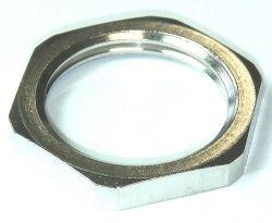 Lock Nuts brass nickel plated