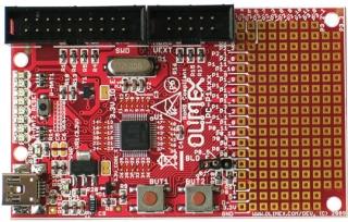 Development prototype board for LPC1343 CORTEX M3 ARM microcontroller
