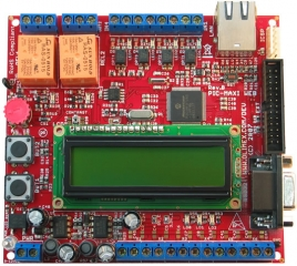 Web server TCP-IP development board with PIC18F97J60 pic microcontroller