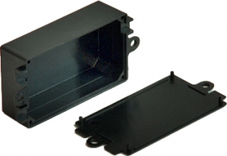 Plastic Box 82x57x33, Black