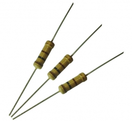 resistor carbon film 1/4W(2.5x6.8) 5% 300ppm 3.9R