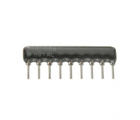 8 resistors with 9 terminals (SIP) 1.0K