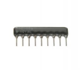 8 resistors with 9 terminals (SIP) 330R