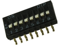DIP switch 10p SPST ON-OFF 1.27mm SMD