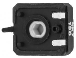 Спряно от производство || 0.15W; лин. 10х11mm;верт. рег. шестостен; P=5х10mm