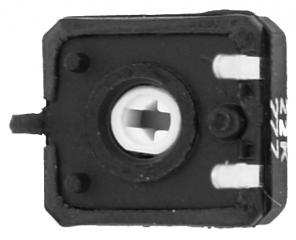 Спряно от производство || 0.15W; лин.; 10х11mm; верт. рег. шлиц; P=5х10mm