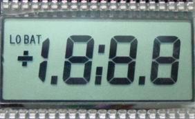 6 цифри 12.70мм знак LCD 66.6х19.8мм видимо поле