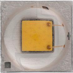 3.45x3.45mm, Warm White 3000K, 93.9lm@350mA, 1.5A max, 110deg
