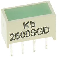3.81 x 19.05 mm light bar, green diffused, GREEN