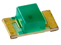 3.2x1.6mm, 3.2-15mcd@20mA, 568nm Green, Diffused, 120°