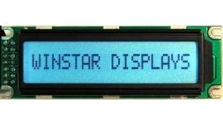 16x1 LCD STN Blue Neg. 85x28x13.5mm white B/L LAT+CYR