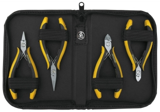 4-piece set of pliers TECHNICline in imitation leather case