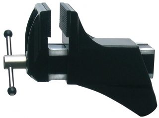 Screw-on mounting vice, dissipative surface