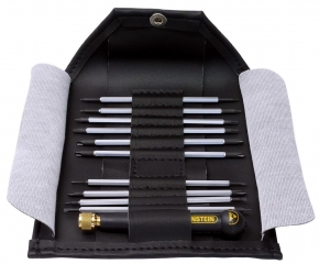 11-piece interchangeable screwdriver set with ESD-handle