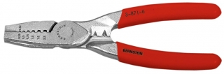 Pressing pliers for multicore cable end, 155 mm, 0,25 - 2,5 mm2, red insulation