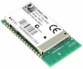 Bluetooth 3.0 class 2 surface mount audio module with PCB trace antenna